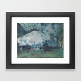 Claude Monet - Arrival of the Normandy Train Framed Art Print