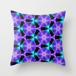 Chainlink Pattern (purple) Throw Pillow