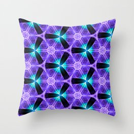 Chainlink Pattern (purple) Throw Pillow