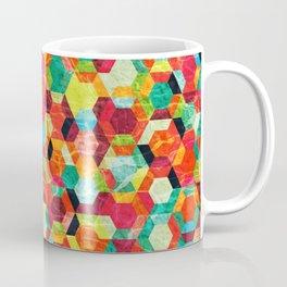 Colorful Half Hexagons Pattern #04 Coffee Mug
