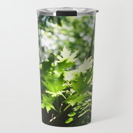 Light Shines through the Forest Travel Mug
