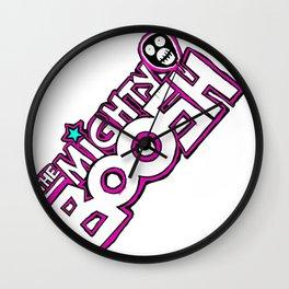 Mighty Boosh Logo, Colourful, Funky, Funny Wall Clock