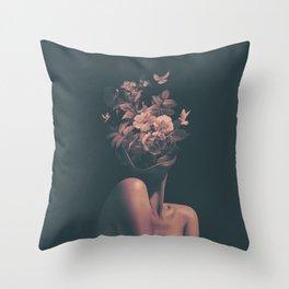 Dead Flowers Throw Pillow