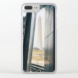 Washington Monument Through Museum Window Clear iPhone Case