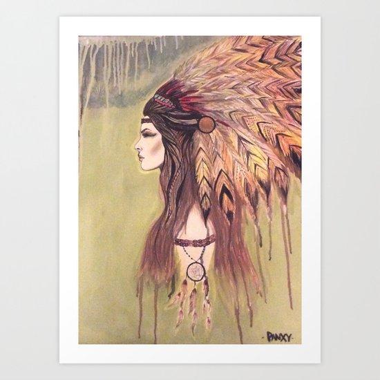 Native beauty Art Print