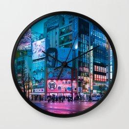 Akihabara Neon Dream Wall Clock