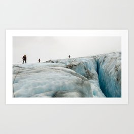 Climbing out of the Glacier Art Print