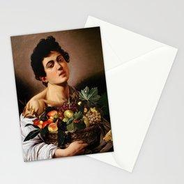 "Michelangelo Merisi da Caravaggio ""Boy with a Basket of Fruit"" 1593–1594 Stationery Cards"