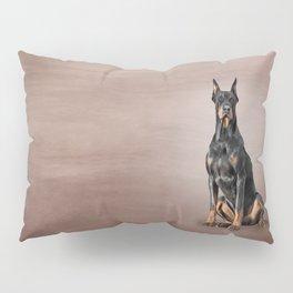 Drawing Doberman dog Pillow Sham
