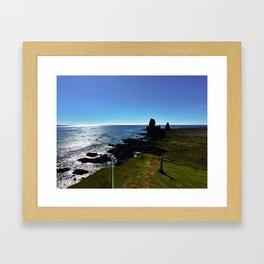 Lóndrangar Rock Pillars in Western Iceland (3) Framed Art Print