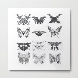 Rorshach Interpretation Metal Print