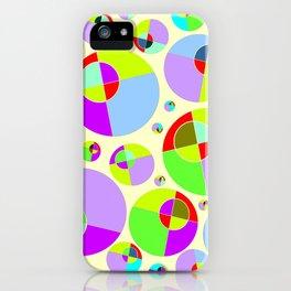 Bubble yellow & purple 10 iPhone Case