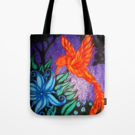 The Flame and the Moon Flower Tote Bag