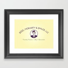Consulting Criminals Framed Art Print