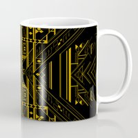 da vinci Mugs featuring Da Vinci Code by CYRUSCOPE