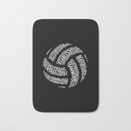 White Volleyball Wordcloud - Gift Bath Mat