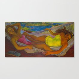 Classical Masterpiece 'The Hammock' by Diego Rivera Canvas Print