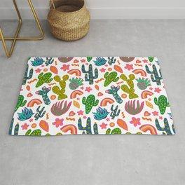 Colorful Cactus/Happy Cactus/Rainbow Cactus/Cactus painting/Cactus Patterns Rug