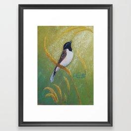 Japanese Reed Bunting Framed Art Print