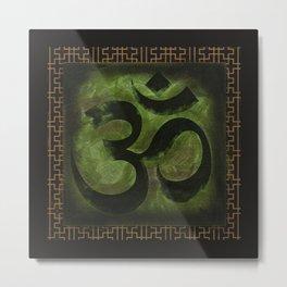 OM Tibetan Green Metal Print