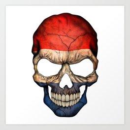 Exclusive Netherlands skull design Art Print
