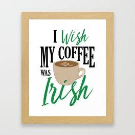 Irish Coffee Framed Art Print