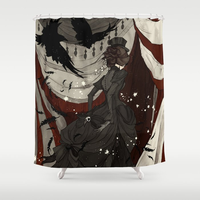 The Night Circus Shower Curtain By Abigaillarson