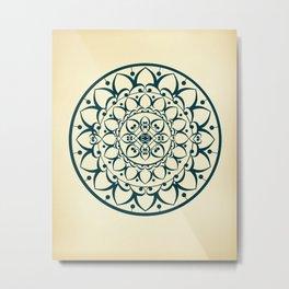 Mandala Illustration Metal Print