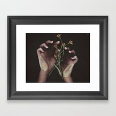 DELICATE HANDS Framed Art Print