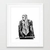 thranduil Framed Art Prints featuring Thranduil by Lydia Joy Palmer