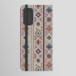 Caucasian Rugs(Stripe) - White Android Wallet Case