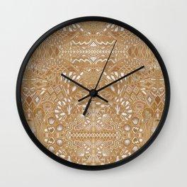 Metallic Snake Wall Clock