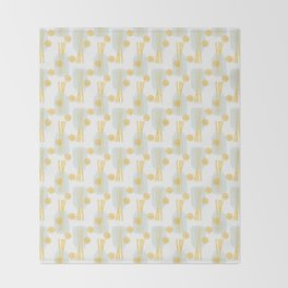 Modern pastel green orange fruit pasta abstract pattern Throw Blanket