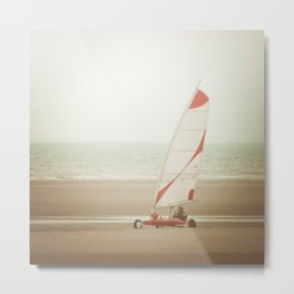 Char à voile yachting Metal Print