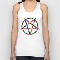 pentagram Tank Tops featuring Pentagram by YEAH RAD STOKED