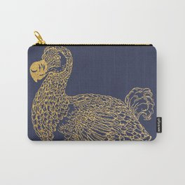 Gold dodo on patriot blue Carry-All Pouch