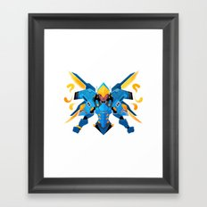 Justice Rains From Above Framed Art Print