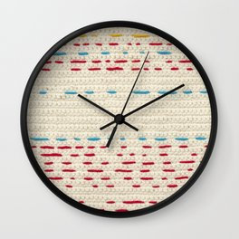 Yarns - Between the lines Wall Clock