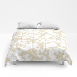 Spots - White and Pearl Brown Comforters