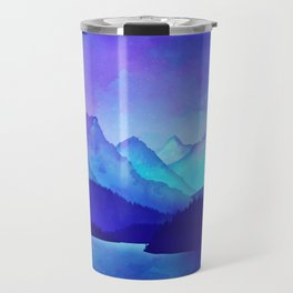 Cerulean Blue Mountains Travel Mug