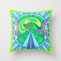 afro Throw Pillows featuring afro by Kathead Tarot/David Rivera