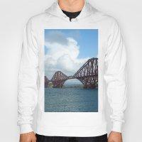 scotland Hoodies featuring Forth Bridge, Scotland by Phil Smyth