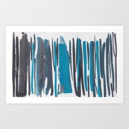 25  |  190408 Blue Abstract Watercolour Art Print