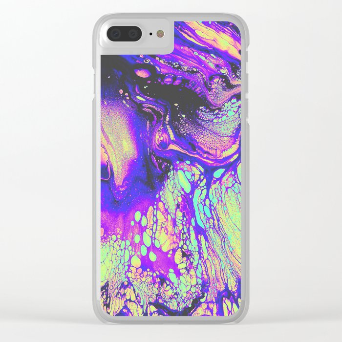 FIRE AND THUD Clear iPhone Case