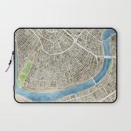 New Orleans City Map Laptop Sleeve
