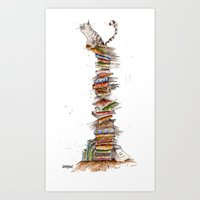 bad idea Art Prints featuring This was a bad idea  by Sean Fearillustration