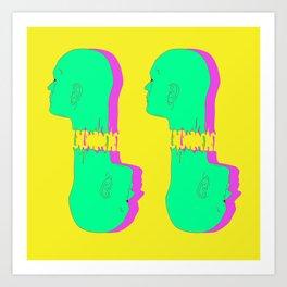 4 Heads Art Print