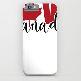 Love Canada Canadian Christmas Gift iPhone Case