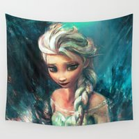 alice Wall Tapestries featuring The Storm Inside by Alice X. Zhang