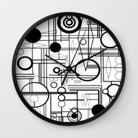 phil jones Wall Clocks featuring Phil Coulsons Carvings by Rachcox